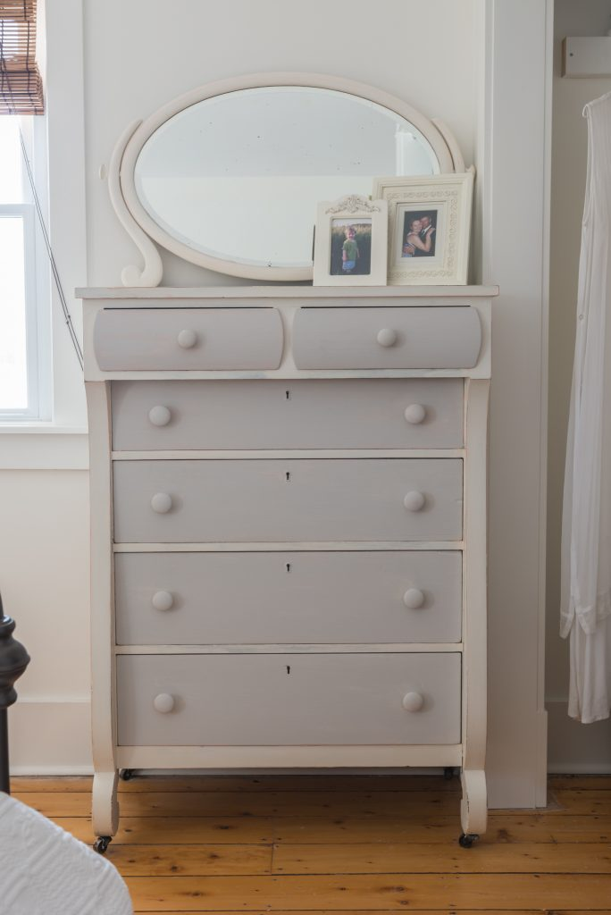 farmhouse white antique dresser