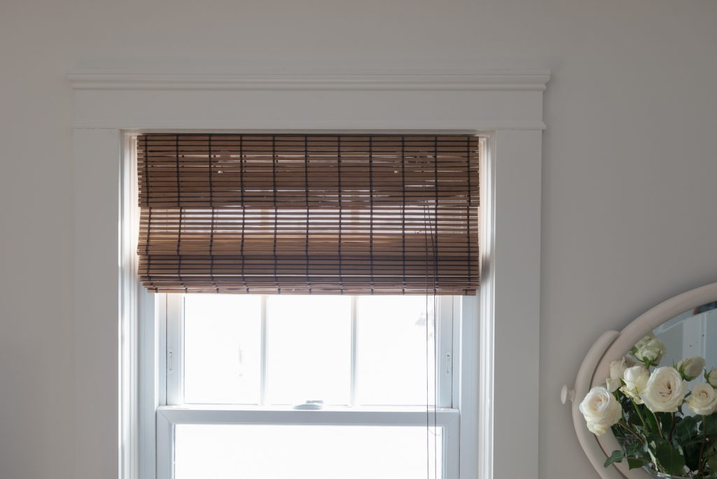 farmhouse wicker blinds