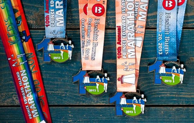 PEI Marathon Medals 2013