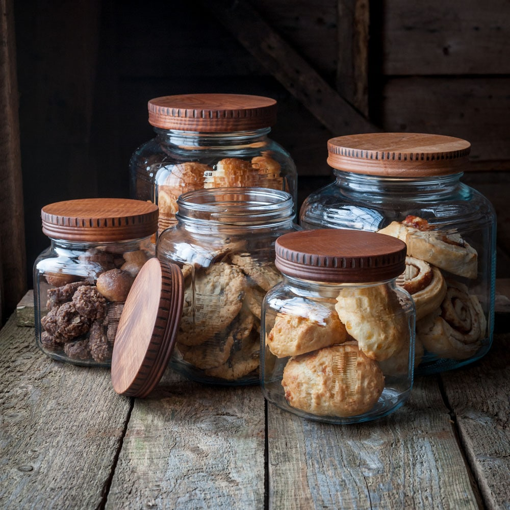 Cattails Woodwork Pantry Jar Lids
