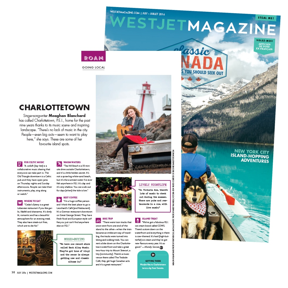 WestJet Magazine, Going Local Charlottetown