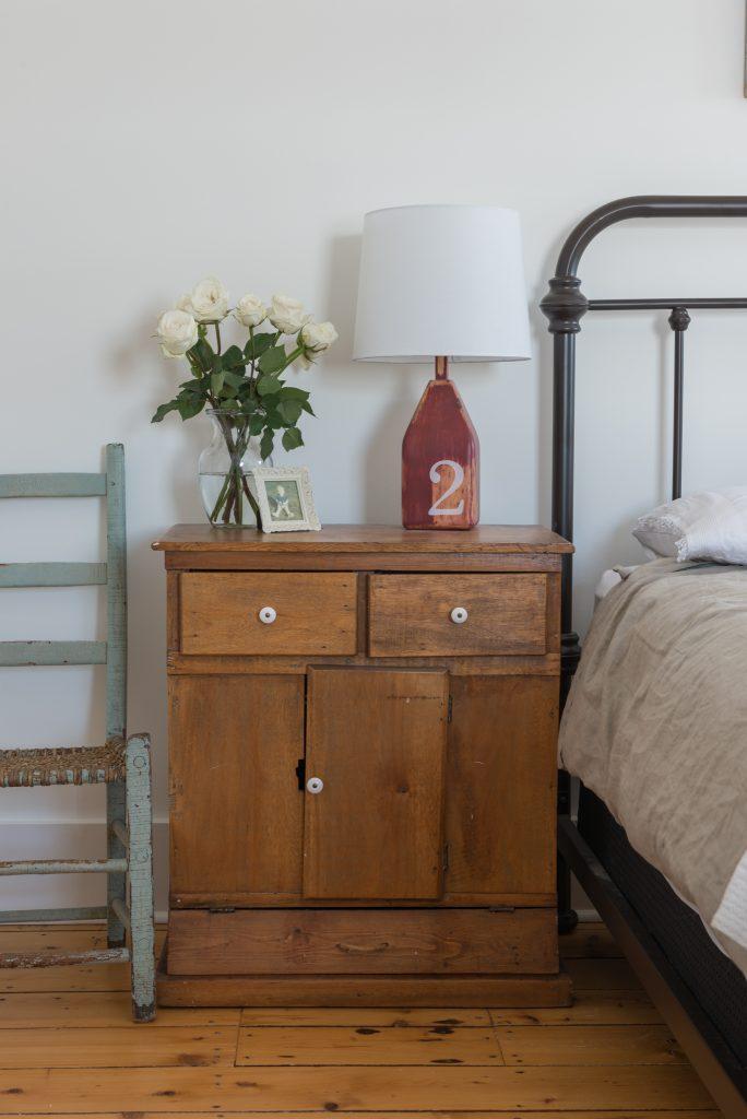 farmhouse master bedroom side table