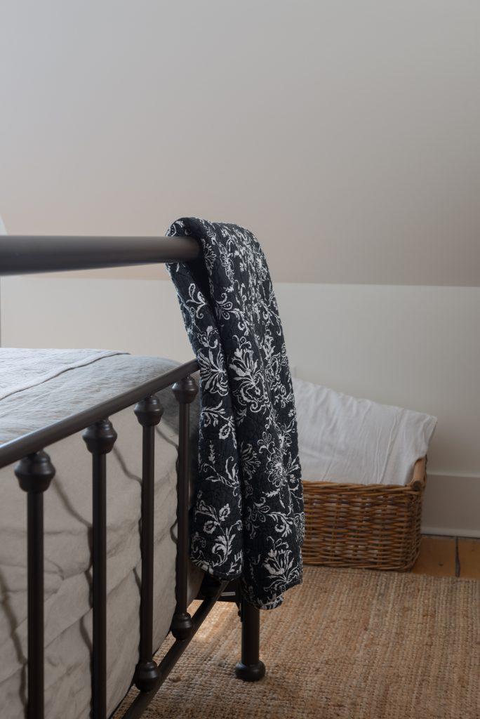 farmhouse master bedroom metal bed