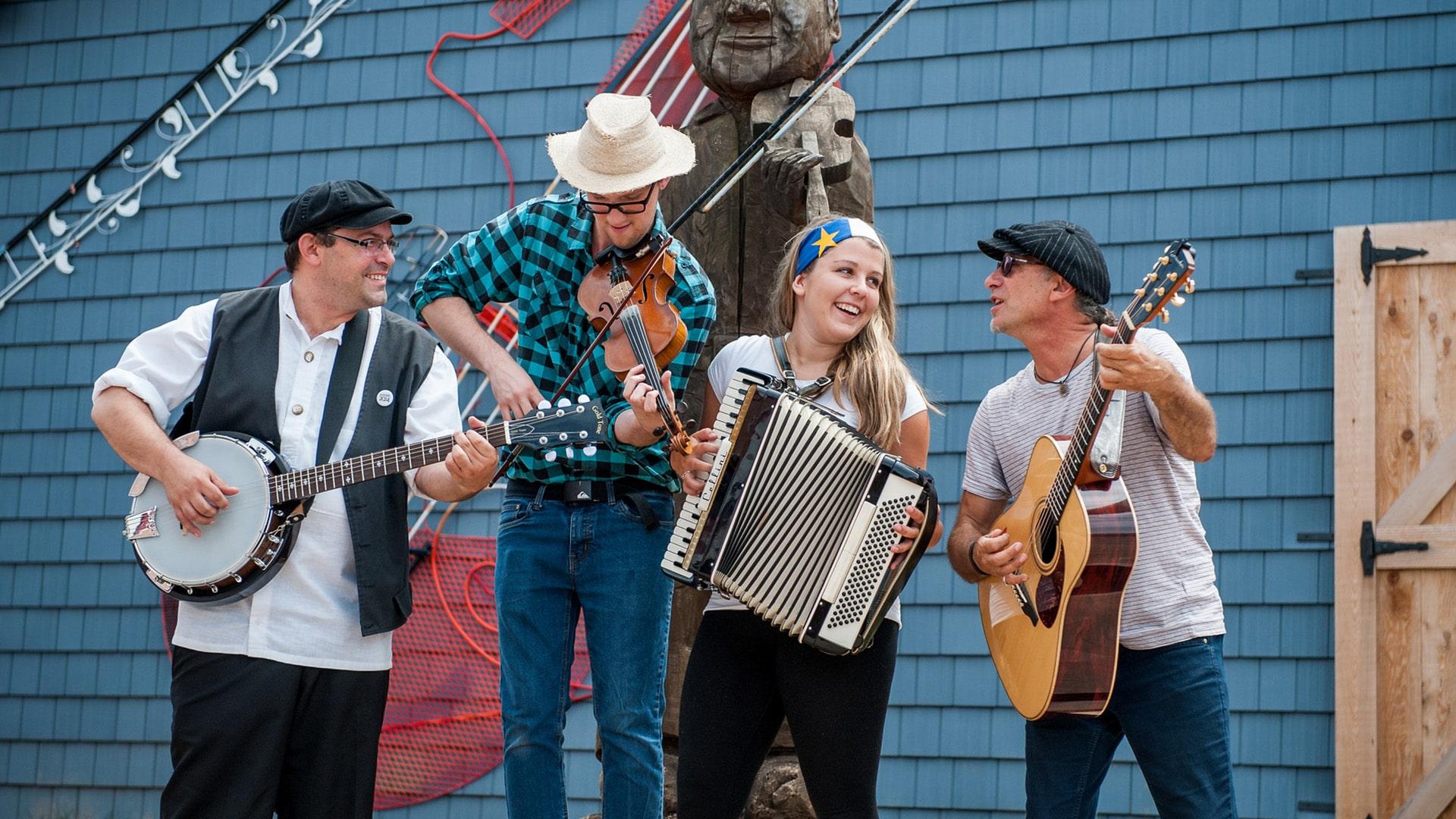 North Cape Coastal Drive, Village Acadien Musicians