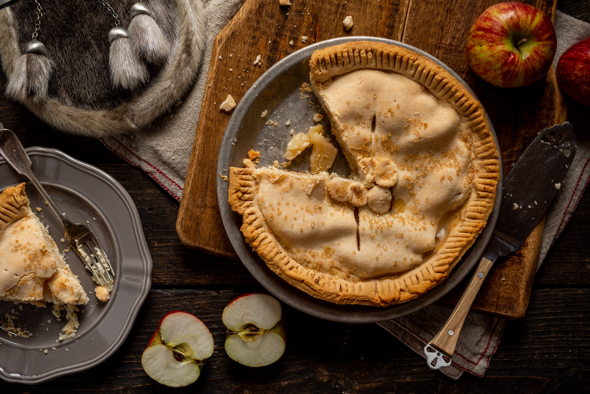 Riverdale Orchard baked apple pie